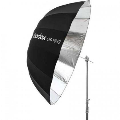 Godox UB-165S 65in/165cm Parabolic Silver Black Reflective Studio Umbrella with Diffuser Combo