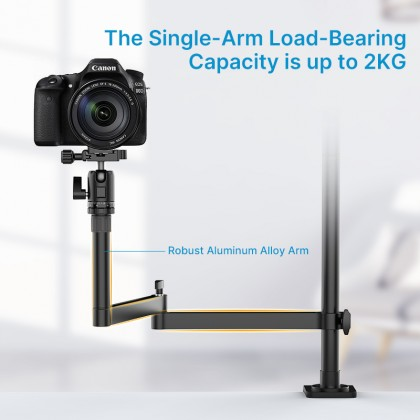 GS Online Live Broadcast Multi Arm Table Clamp Stand Table Top Universal Live Broadcast Stand