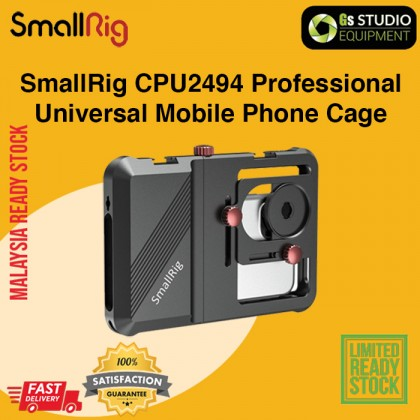 """SmallRig CPU2494 Professional Universal Mobile Phone Cage For Smartphones with Multiple 1/4""""-20 Threaded Holes and Two Cold Shoes"""