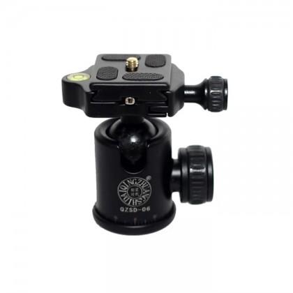 BEIKE QZSD Q06 Aluminum Camera Tripod Ball Head Ballhead Quick Release Plate Max Load To 15KG