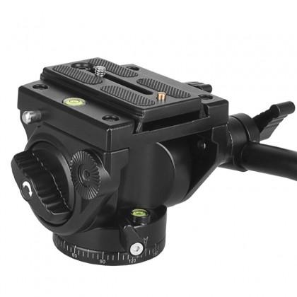 BEIKE QZSD-Q90 Pan Ballhead Hydraulic Fluid Damping Pan Head for DSLR Video Tripod or Monopod
