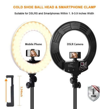 GVM HD-18S Studio Grade High Power 55W Ring Light with Stand