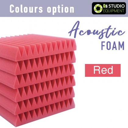 GS Pro Acoustic Foam 30cmx30cmx5cm With Self-Adhesive Soundproof Foam Studio Recording Sound Absorption