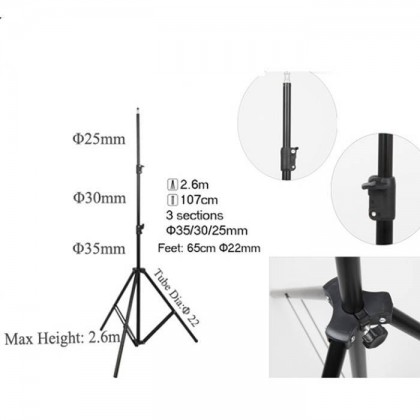 GODOX SL100D LED 2 LIGHT KIT WITH SB-GUE80 (WITH GRID) SOFTBOX + 2.6M AIR CUSHIONED LIGHT STAND COMBO