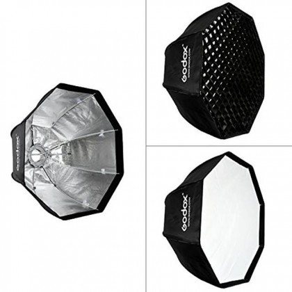 GODOX SL100D LED 2 LIGHT KIT WITH SB-GUE120 (WITH GRID) SOFTBOX + 2.6M AIR CUSHIONED LIGHT STAND COMBO