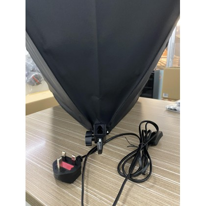 GS LitBox Continous Lighting Softbox LED Kit 50w Adjustable Color 3200K-5500K with Wireless Remote Control, Malaysia Plug Single Light Kit