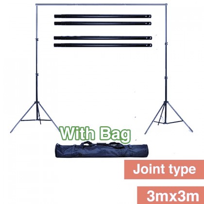 3mx3m Backdrop Stand Joint Type High Quality Backdrop Stand With Bag