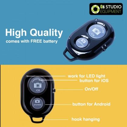 GS Phone Clip Clamp Tripod Mount with 1/4 inch Screw Hole & Cold Shoe for LED Light Handphone Smartphone Klip Fon Murah