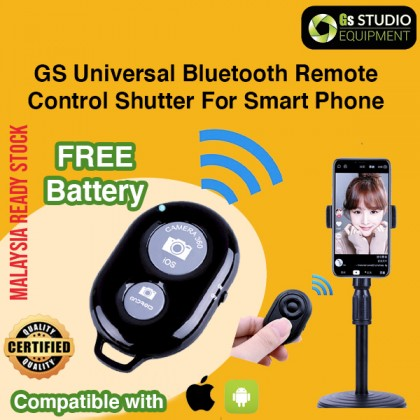 GS Mini Wireless Bluetooth 3.0 Selfie Stick Remote Shutter Control For iOS Android