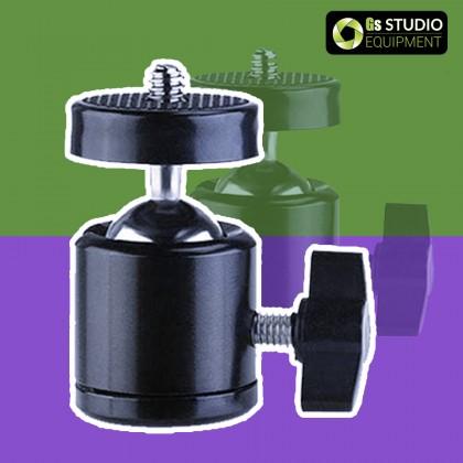 GS 1/4 Screw Hole Mount Mini Ballhead for Tripod 360 Rotation Ring Light Selfie Live Broadcast