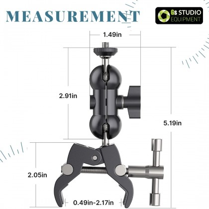 Ulanzi UURig R093 Super Clamp with Magic Arm Mount, Clip Mount for Camera Monitor Mount/LED Light/Extension Rod