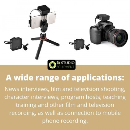YELANGU MX5 Single Microphone Portable Lavalier Interview Recording Wireless Microphone for Mobilephone PC DSLR Camera iPhone