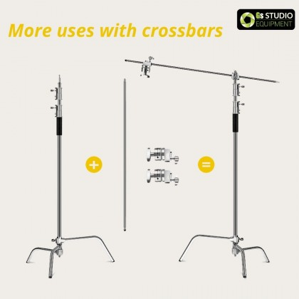 GS G-30 Professional Stainless Steel Heavy Duty C-Stand 330cm