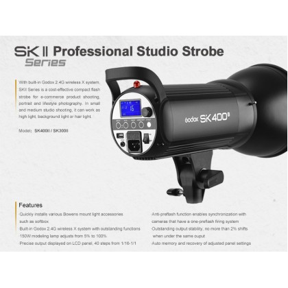 Professional Full Size Studio Start Up Kit B (SK400II 400w 3 Light With 3 Color Backdrop)