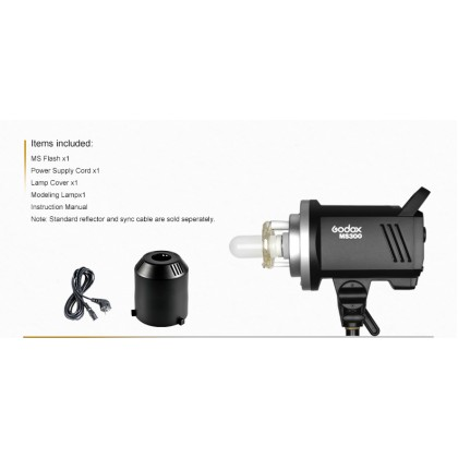 Professional Full Size Studio Start Up Kit B (Godox MS300 300w 3 Light With 3 Color Backdrop)