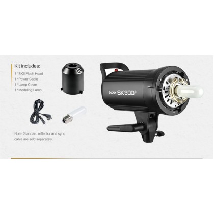 Professional Full Size Studio Start Up Kit (Godox SK400II 400w 3 Light With 3 Color Backdrop)
