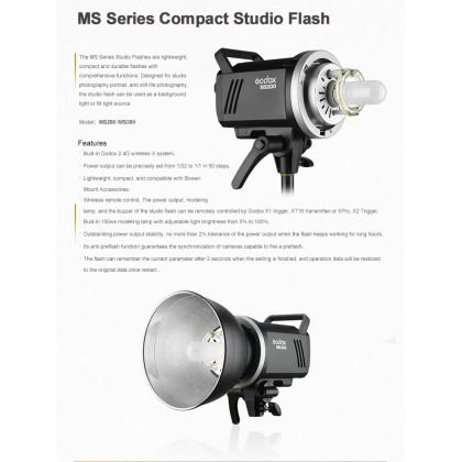 Professional Full Size Studio Start Up Kit (Godox MS200 200w 3 Light With 3 Color Backdrop)