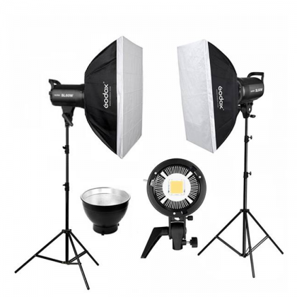 Videography Studio Start Up Kit (Godox SL60W 2 Light Kit with 3x6m Backdrop)