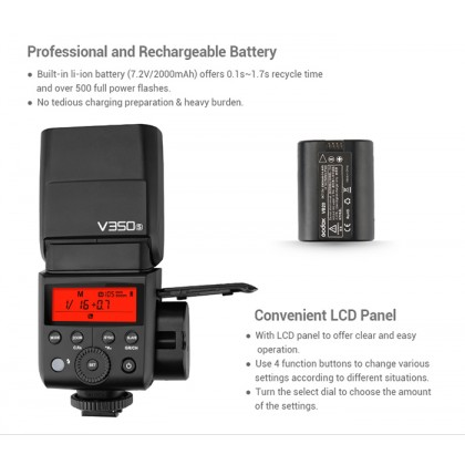 Godox V350S Flash For SONY (ORIGINAL & OFFICIAL GODOX )
