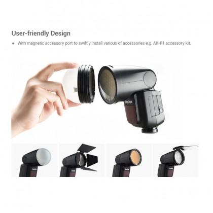 Godox V1 Flash Speedlight for Canon Nikon Sony Fuji Camera Round Flash TTL Li-ion Battery