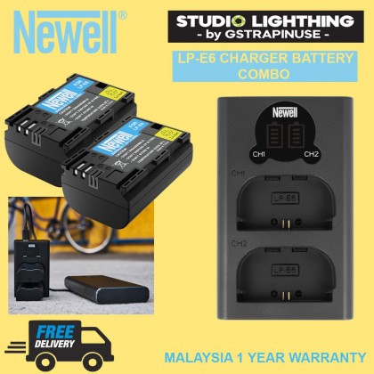 Newell Battery LP-E6 Camera Battery pack For Canon 5D Mark II III 7D 60D EOS 6D 70D 80D for canon accessories