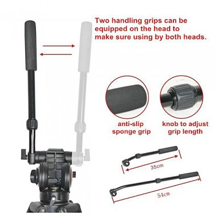 GS 8018FS PROFESSIONAL VIDEO TRIPOD WITH FLUID VIDEO HEAD & GROUND SPREADER
