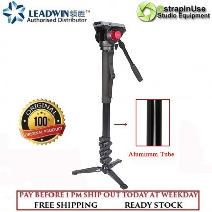 LEADWIN MP01 CLIP LOCK PROFESSIONAL VIDEO MONOPOD WITH FLUID VIDEO HEAD
