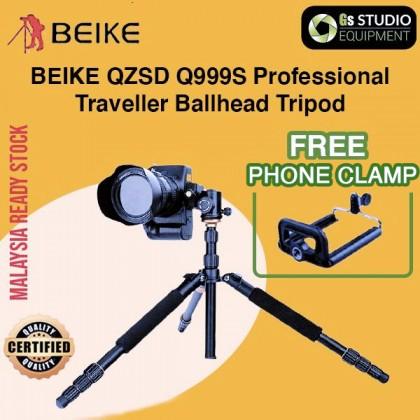 Beike QZSD Q999S Professional Traveller's Ballhead Tripod with MonopodMonopod