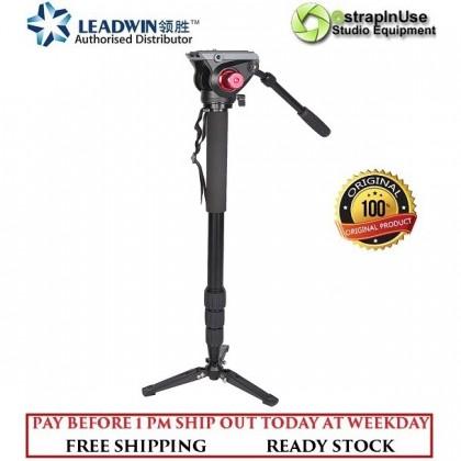 LEADWIN MP01 TWIST LOCK PROFESSIONAL VIDEO MONOPOD WITH FLUID VIDEO HEAD