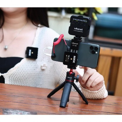 Ulanzi ST-08 Wireless Mic Phone Holder for RODE Wireless Go With Cold Shoe Phone Clip