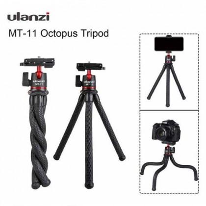 Ulanzi MT-11 Travel Flexible Octopus Mobile Phone DSLR Tripod 2 in 1 Foldable Clip Magic Arm Quick Release Plate