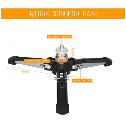 BEIKE QZSD Q166E UNIVERSAL MONOPOD TRIPOD
