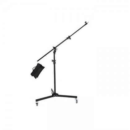 HEAVY DUTY 2 IN 1 BOOM STAND WITH WHEELS MAX HEIGHT 3.8M (M-4)