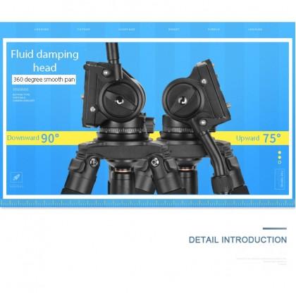 BEIKE QZSD Q680 PROFESSIONAL VIDEO TRIPOD WITH VIDEO FLUID HEAD
