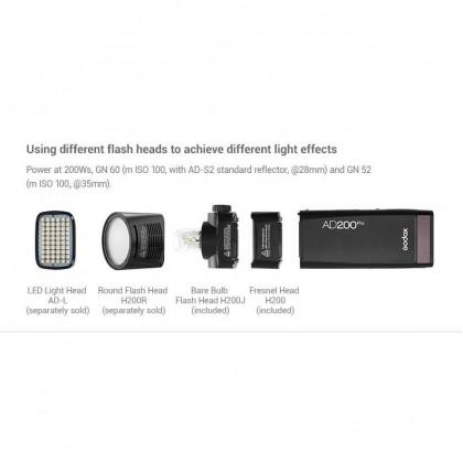 Godox AD200pro 200Ws Outdoor Flash Light TTL HSS 2.4G Wireless X system AD200PRO Pocket Flash Light for Sony Nikon Canon