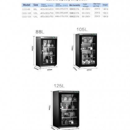 NABOXSUN DIGITAL FULL AUTO 125 LITER (125L) DRY CABINET BOX ( LATEST VERSION )