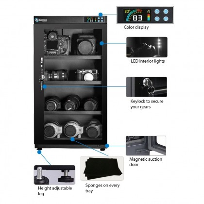 NABOXSUN DIGITAL FULL AUTO 50 LITER (50L) DRY CABINET BOX ( LATEST VERSION )