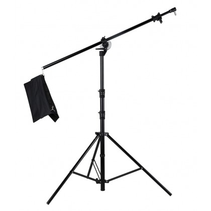 BOOM ARM HEAVY DUTY 2 IN 1 LIGHT STAND AND BOOM STAND MAX HEIGHT 3.9M (M-1)