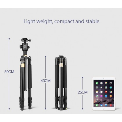 BEIKE Q222 Basic COMPACT TRAVELLING TRIPOD WITH MONOPOD for Camera