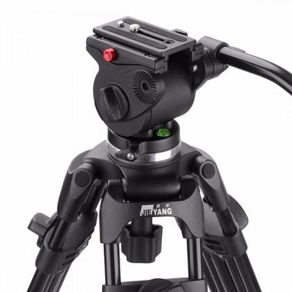 JIEYANG JY0508A PROFESSIONAL VIDEO TRIPOD WITH FLUID VIDEO HEAD FOLDABLE TELESCOPING TRIPOD ALUMINUM ALLOY DSLR CAMERA