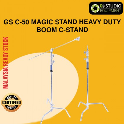 GS C-50 Magic Stand Heavy Duty Stainless Steel Boom C-Stand