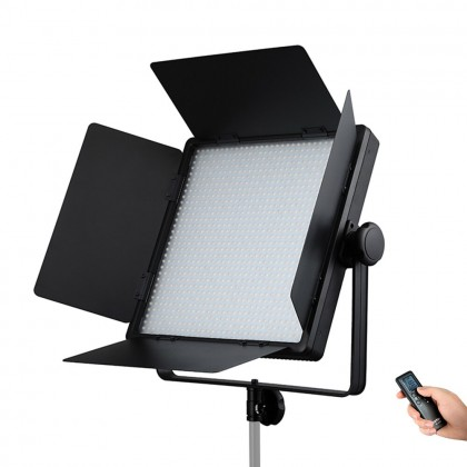 Godox LED1000Bi II LED Video Light Dimmable Color Temperature with LCD Display Remote Control Barn Doors White Diffusion Filter